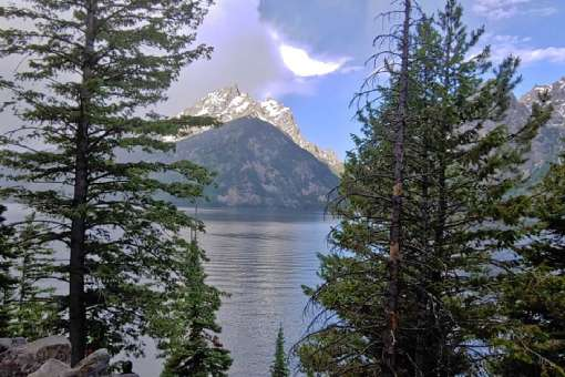Jenny Lake with a view of the Grand Tetons in Wyoming.